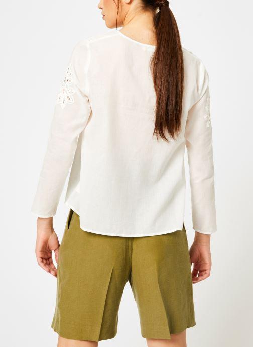 Vêtements Louizon Top Garbo Blanc vue portées chaussures