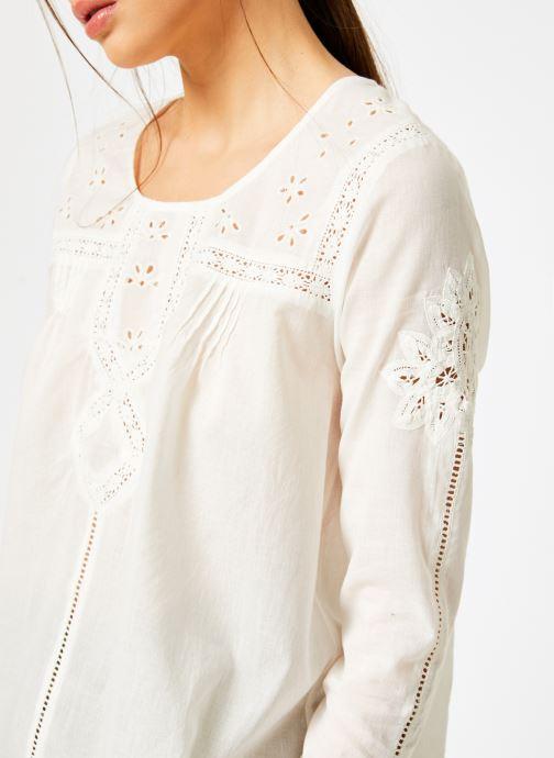 Vêtements Louizon Top Garbo Blanc vue face