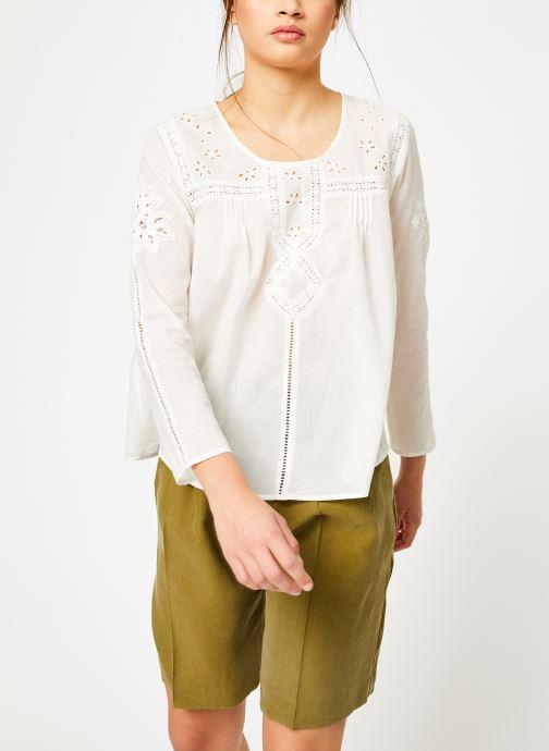 Vêtements Louizon Top Garbo Blanc vue droite