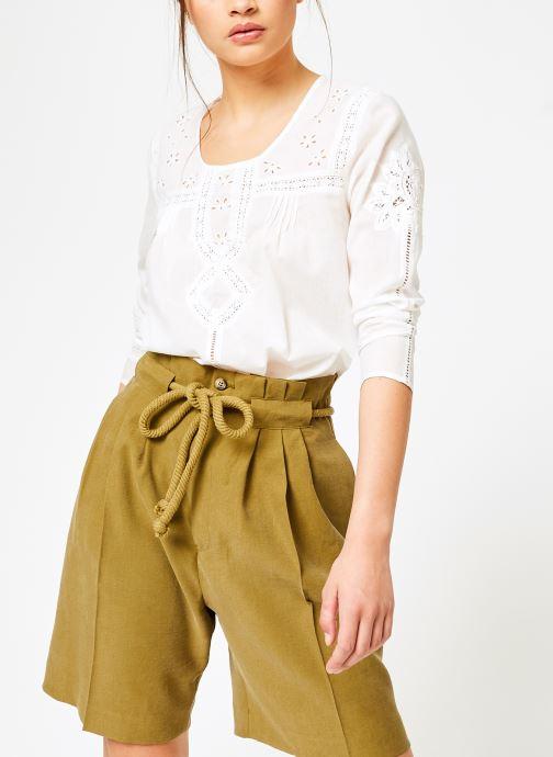 Vêtements Louizon Top Garbo Blanc vue détail/paire