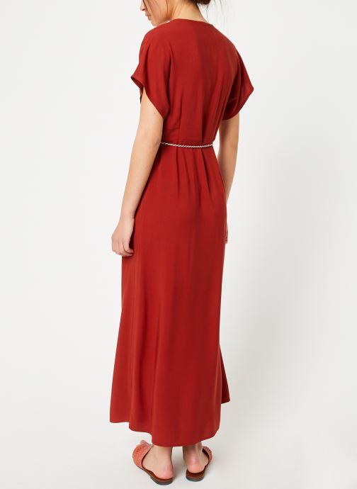 Vêtements Marie Sixtine DRESS NORA Rouge vue portées chaussures