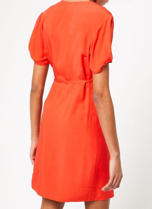 Vêtements Marie Sixtine DRESS MILO Rouge vue portées chaussures