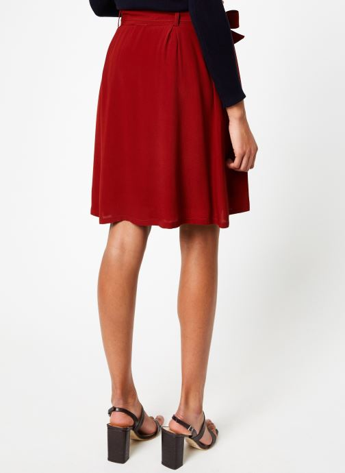 Vêtements Marie Sixtine SKIRT MISHA Rouge vue portées chaussures
