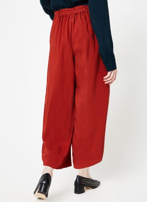Vêtements Marie Sixtine PANTS SANDRO Rouge vue portées chaussures