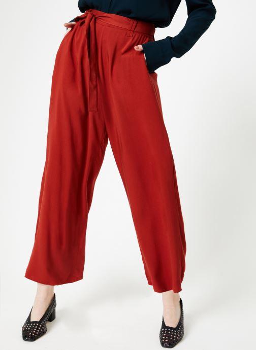 Vêtements Marie Sixtine PANTS SANDRO Rouge vue détail/paire