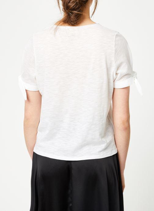 Vêtements Marie Sixtine TSHIRT SOLANGE Blanc vue portées chaussures