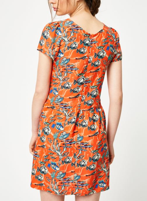 Vêtements Marie Sixtine DRESS ENYA Orange vue portées chaussures