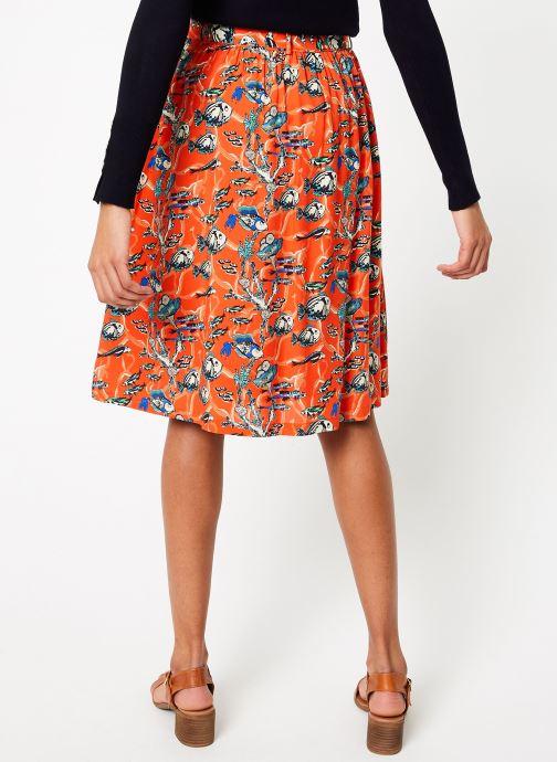 Vêtements Marie Sixtine SKIRT CELINE Orange vue portées chaussures