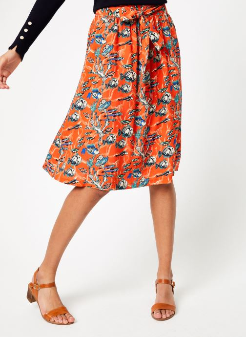 Vêtements Marie Sixtine SKIRT CELINE Orange vue détail/paire