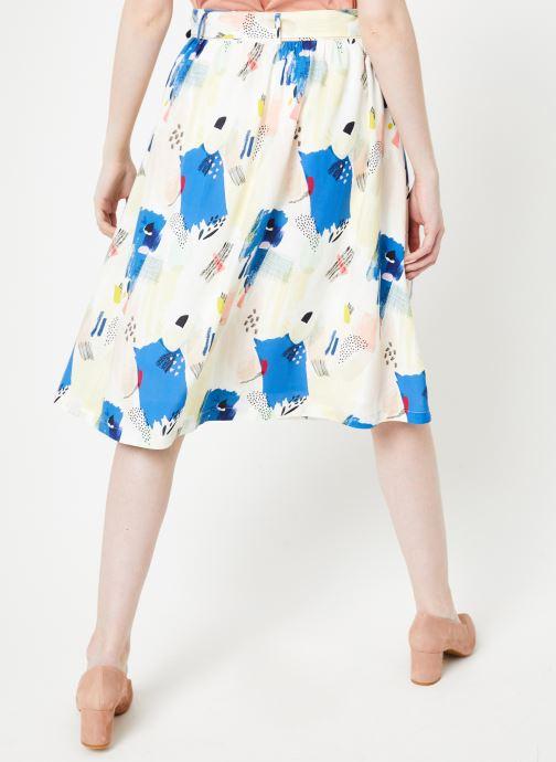 Vêtements Marie Sixtine SKIRT CELINE Multicolore vue portées chaussures