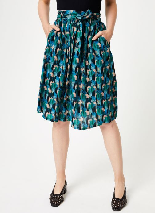 Vêtements Marie Sixtine SKIRT CELINE Vert vue détail/paire