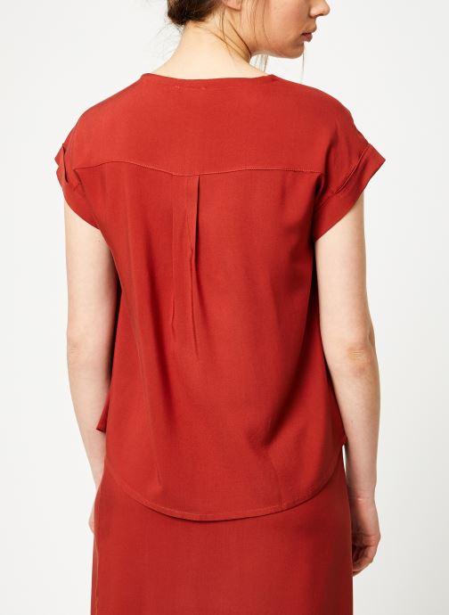 Vêtements Marie Sixtine SHIRT HAVA Rouge vue portées chaussures