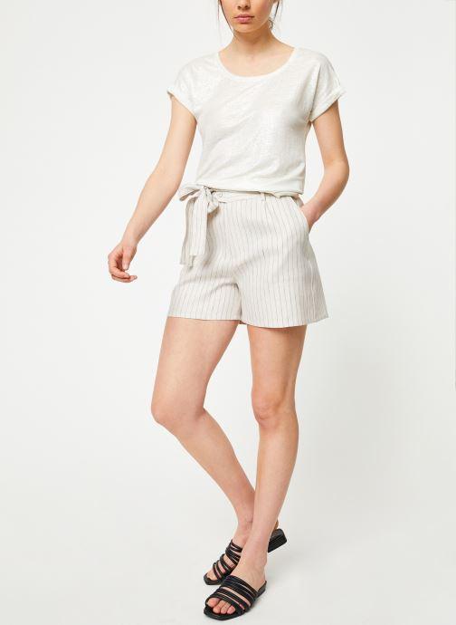 Vêtements Marie Sixtine TSHIRT ANGELA Blanc vue bas / vue portée sac