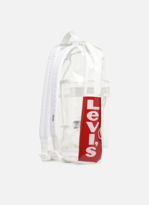 Sacs à dos Levi's The Levi's L Pack Mini Clear Blanc vue droite