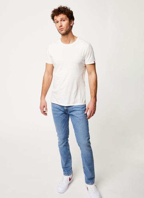 Vêtements Wrangler LARSTON Bleu vue bas / vue portée sac