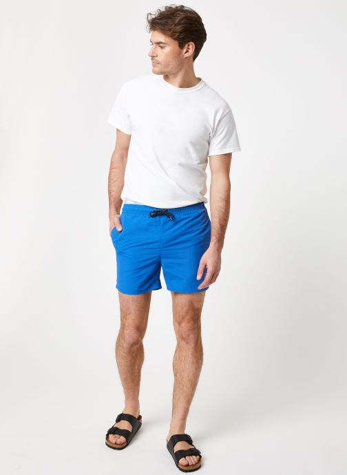 Vêtements K-Way  LE VRAI 3.0 OLIVIER Bleu vue bas / vue portée sac