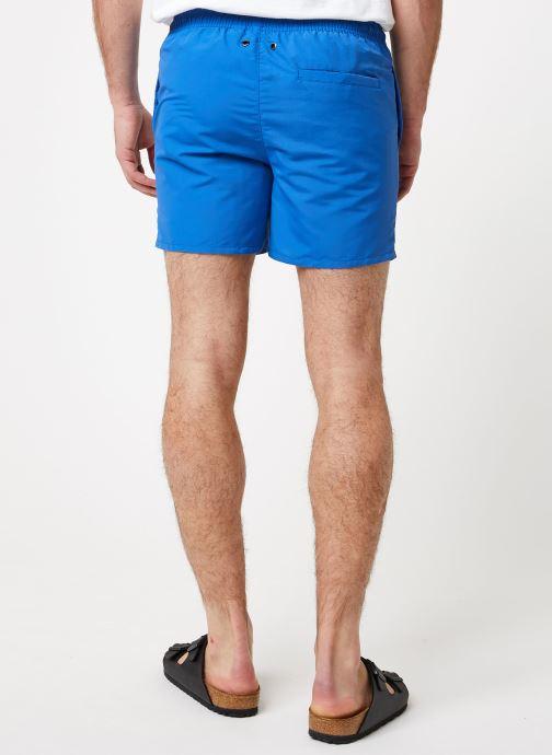 Vêtements K-Way  LE VRAI 3.0 OLIVIER Bleu vue portées chaussures