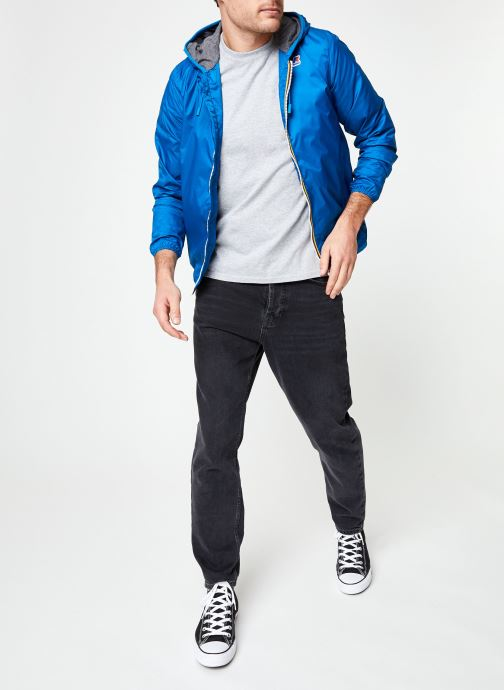 Vêtements K-Way  JACQUES NYLON JERSEY Bleu vue bas / vue portée sac