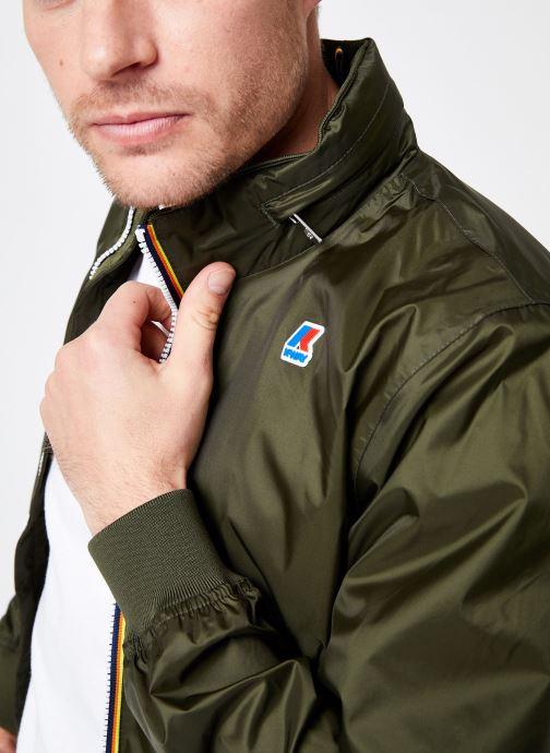 Vêtements K-Way  AMAURY NYLON JERSEY Vert vue face