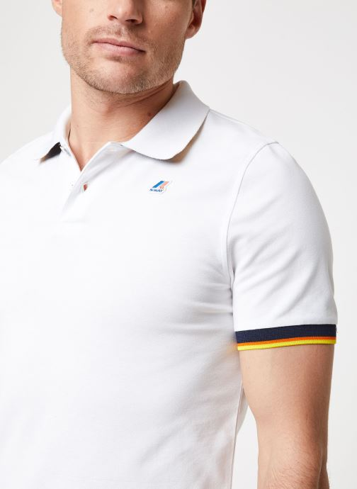 Vêtements K-Way  VINCENT CONTRAST POLO Blanc vue face