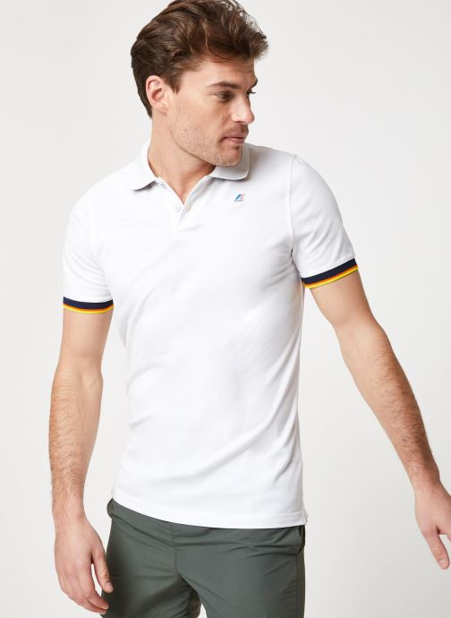 Vêtements K-Way  VINCENT CONTRAST POLO Blanc vue détail/paire