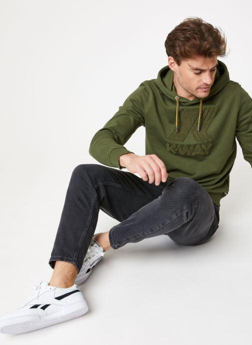 Vêtements K-Way  LUDOVIC FT LOGO SPONGE SWEATSHIRT Vert vue bas / vue portée sac