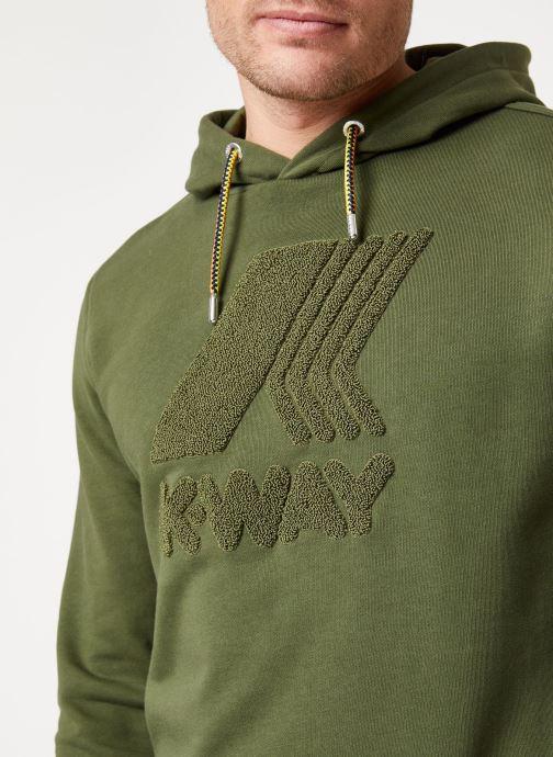 Vêtements K-Way  LUDOVIC FT LOGO SPONGE SWEATSHIRT Vert vue face