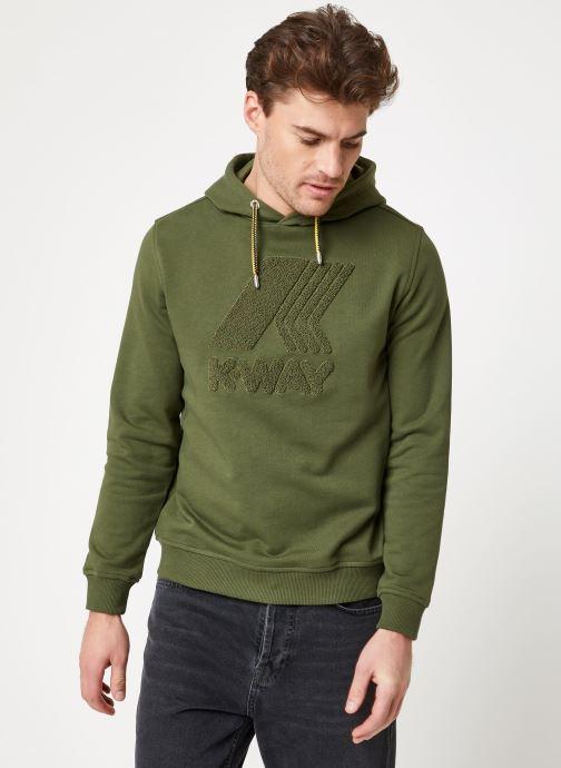 Vêtements K-Way  LUDOVIC FT LOGO SPONGE SWEATSHIRT Vert vue droite
