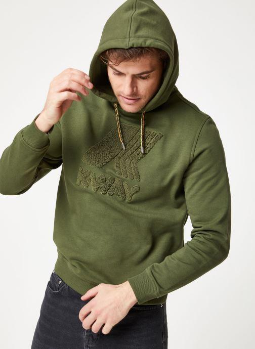 Vêtements K-Way  LUDOVIC FT LOGO SPONGE SWEATSHIRT Vert vue détail/paire