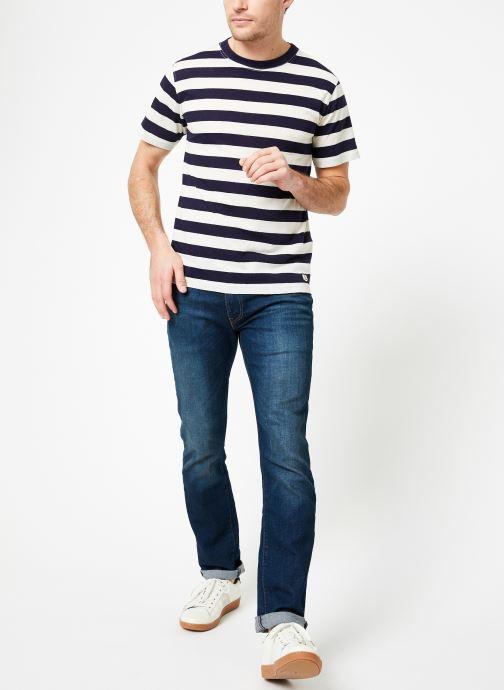Vêtements Armor Lux T-Shirt col rond ML Héritage Bleu vue bas / vue portée sac