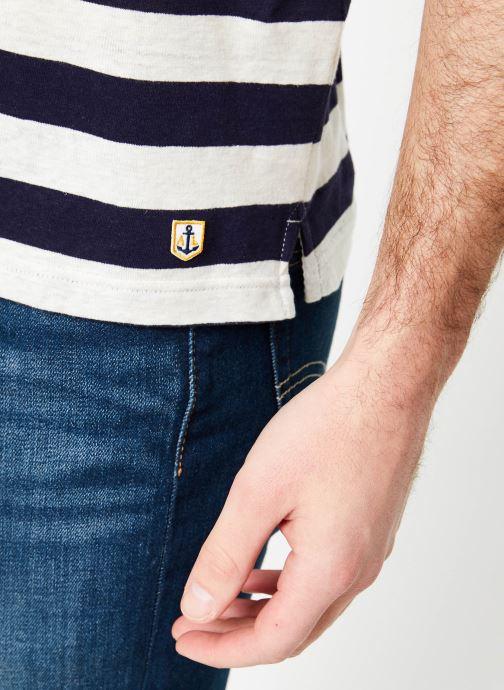 Vêtements Armor Lux T-Shirt col rond ML Héritage Bleu vue face