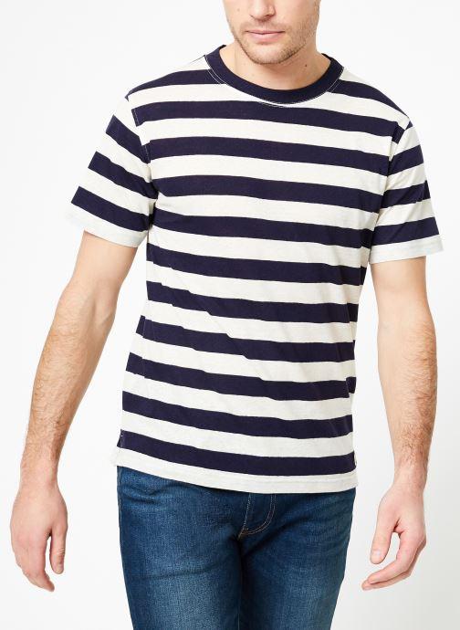 Vêtements Armor Lux T-Shirt col rond ML Héritage Bleu vue droite
