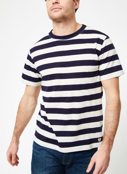 Vêtements Armor Lux T-Shirt col rond ML Héritage Bleu vue détail/paire
