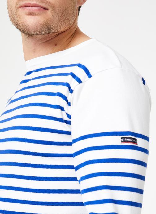 Vêtements Armor Lux Marinière Amiral Homme Blanc vue face