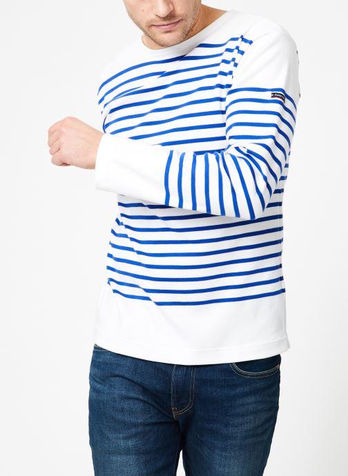 Vêtements Armor Lux Marinière Amiral Homme Blanc vue détail/paire
