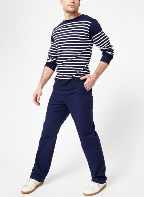 Vêtements Armor Lux Marinière Amiral Homme Bleu vue bas / vue portée sac