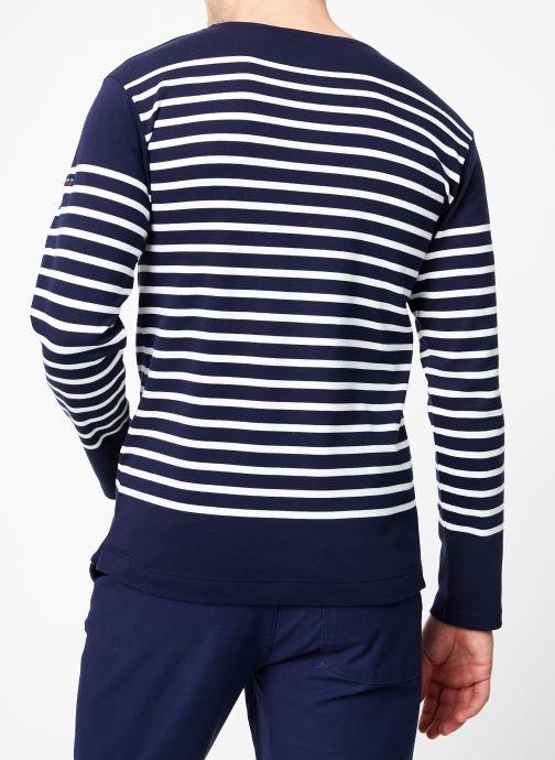 Vêtements Armor Lux Marinière Amiral Homme Bleu vue portées chaussures