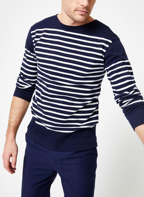 Vêtements Armor Lux Marinière Amiral Homme Bleu vue détail/paire