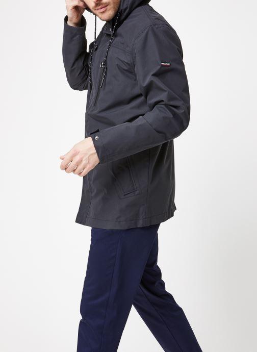 Vêtements Armor Lux Parka toile déperlante Bleu vue droite