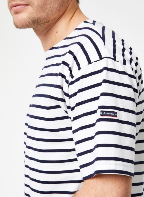 Vêtements Armor Lux Marinière Théviec Blanc vue face