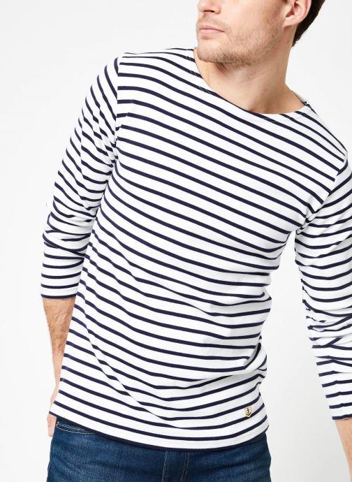 Vêtements Armor Lux Marinière Houat Héritage Blanc vue détail/paire