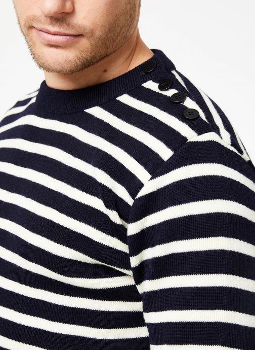 Vêtements Armor Lux Pull marin rayé Fouesnant Bleu vue face
