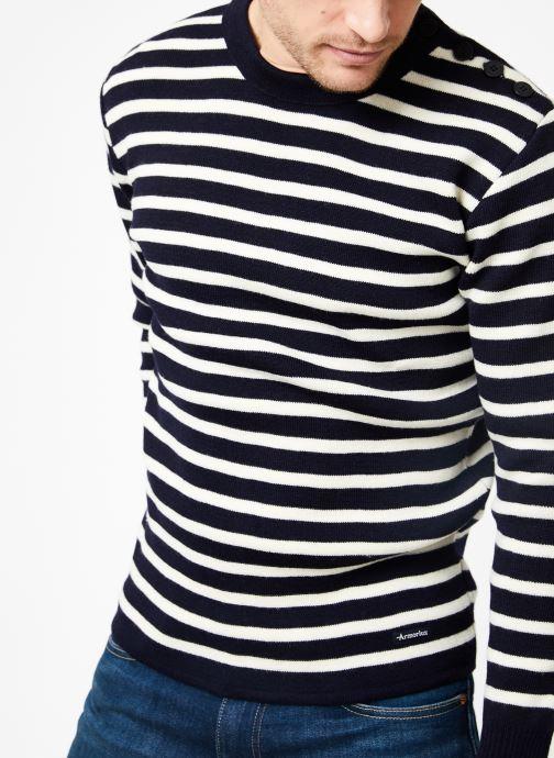 Vêtements Armor Lux Pull marin rayé Fouesnant Bleu vue détail/paire
