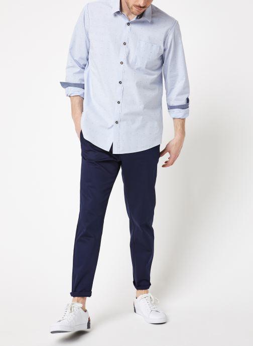 Vêtements Armor Lux Chemise ML Droite Bleu vue bas / vue portée sac