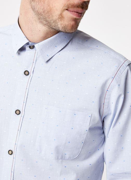 Vêtements Armor Lux Chemise ML Droite Bleu vue face