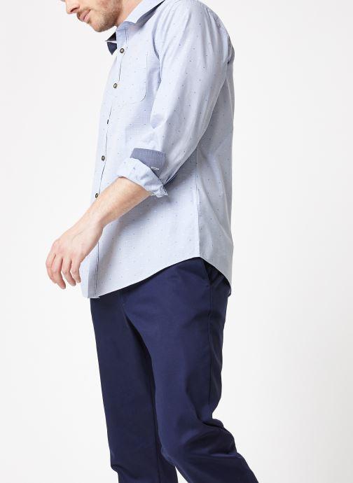 Vêtements Armor Lux Chemise ML Droite Bleu vue droite