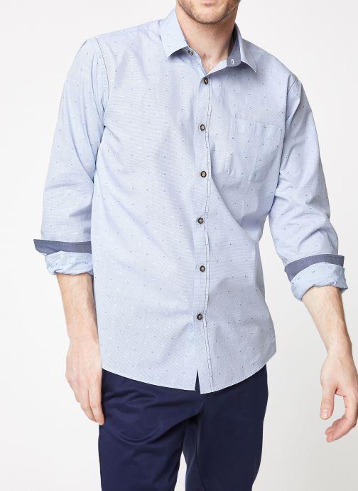 Vêtements Armor Lux Chemise ML Droite Bleu vue détail/paire