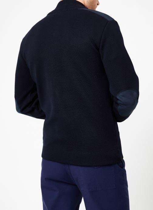 Vêtements Armor Lux Cardigan Carnac Bleu vue portées chaussures