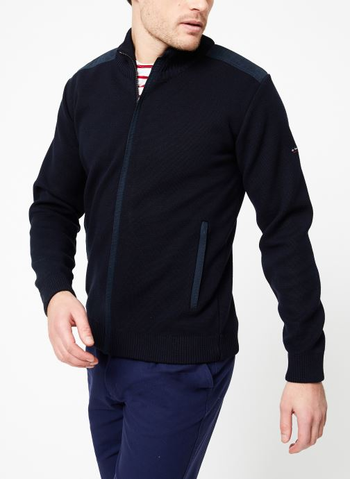 Vêtements Armor Lux Cardigan Carnac Bleu vue droite