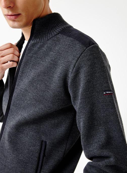 Vêtements Armor Lux Cardigan Carnac Gris vue face